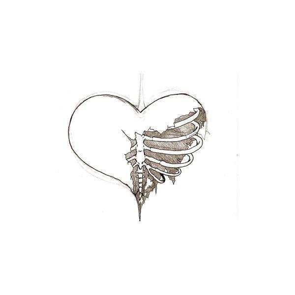 Drawn broken heart #15