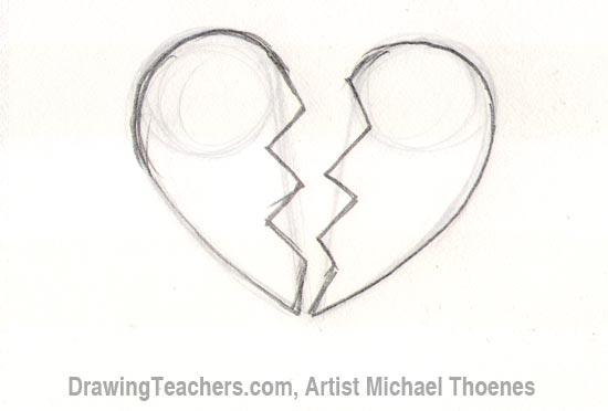 Drawn broken heart #1
