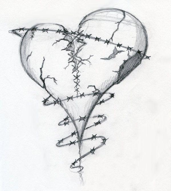 Drawn heart wounded heart Broken drawings Find Ideas heart