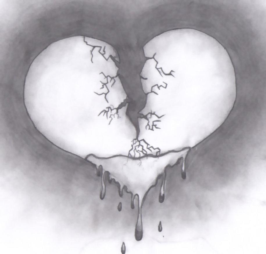 Drawn broken heart #5