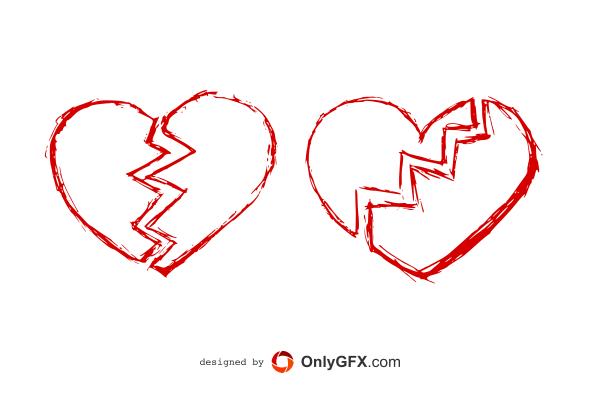 Drawn broken heart #9