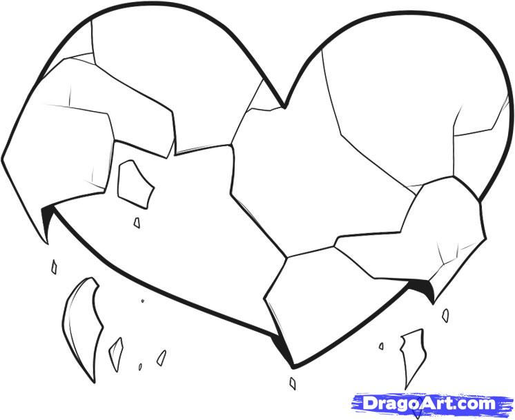 Drawn broken heart Step draw to Broken Culture