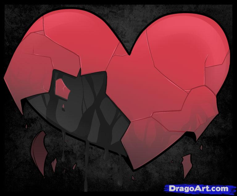 Drawn hearts wounded heart Pop Culture broken How Step