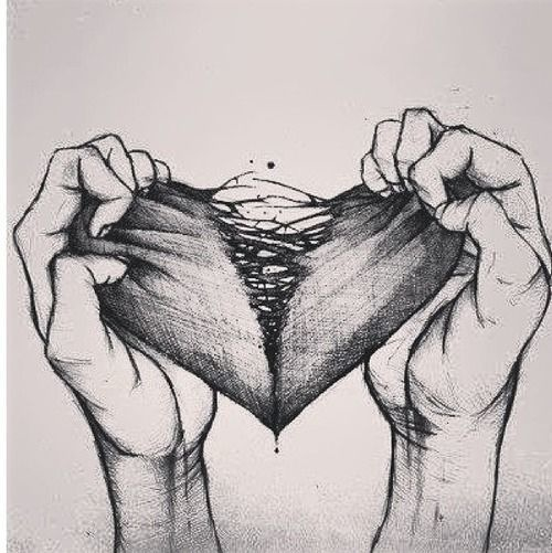 Drawn sad breakup Up up Heart break Pinterest