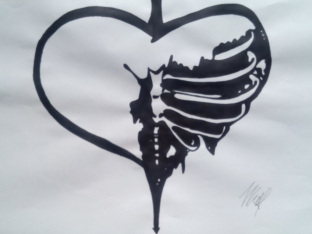 Drawn broken heart healing heart #8