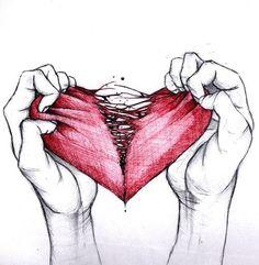 Drawn broken heart heart touching Find lovelovelove heart Broken Love