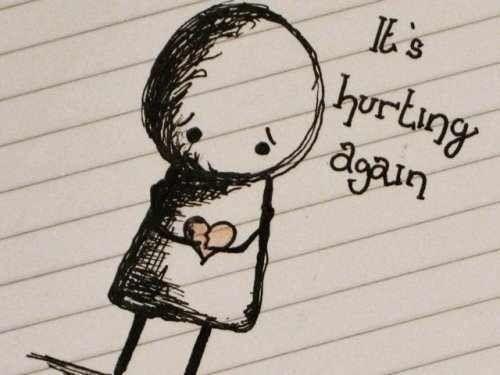 Drawn broken heart heart touching Its Best My ideas Pinterest