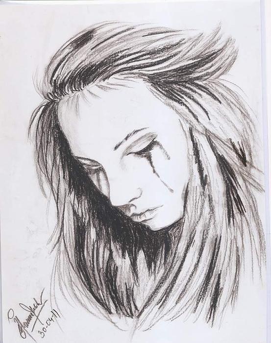 Drawn broken heart heartache #3
