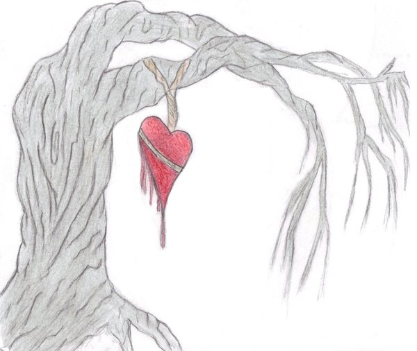 Drawn broken heart hearted #4