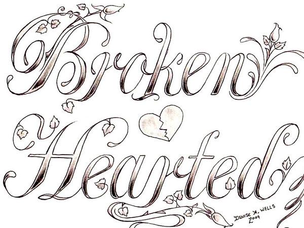 Drawn broken heart hearted #6