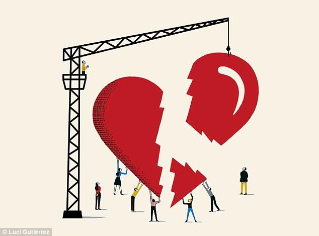 Drawn broken heart mended heart #14