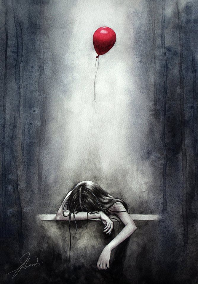 Drawn sad sad heart Girl Balão Best Preto ideas