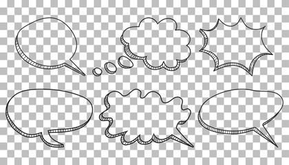 Drawn bubble background speech Hand Speech isolated Search bubbles