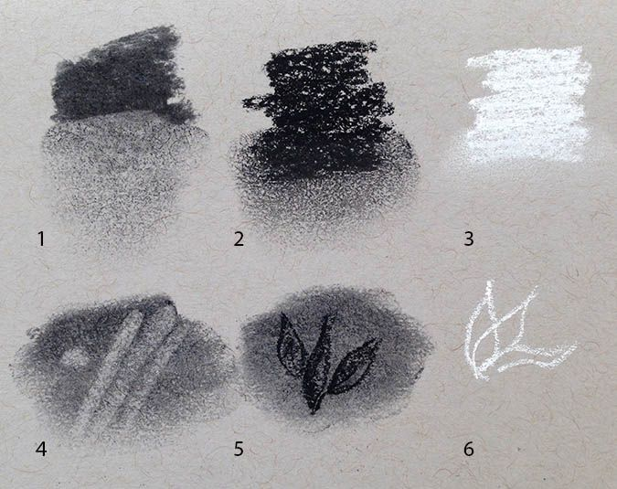Drawn bubble charcoal Techniques 55 Guide Simple Charcoal