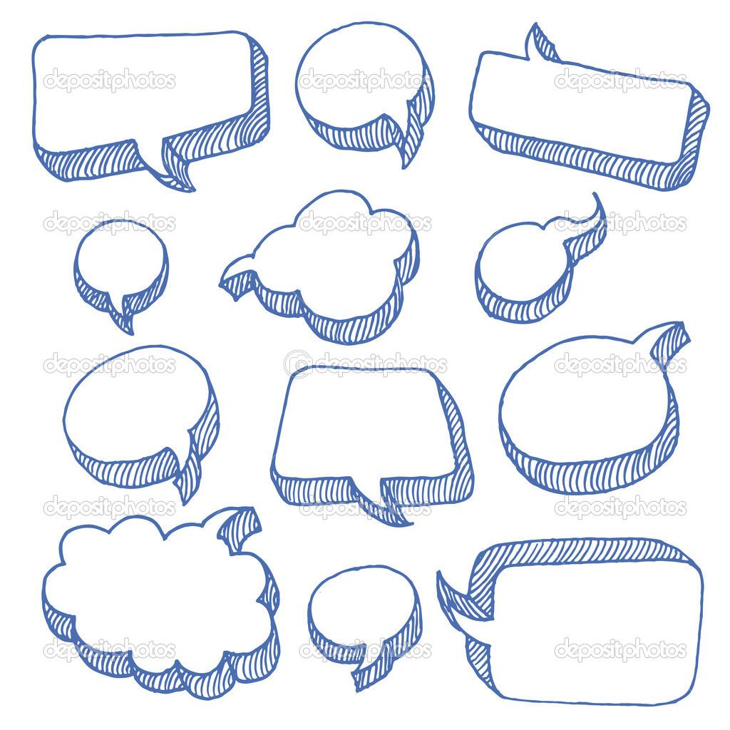 Drawn bubble chat box Search bubble Google for walls