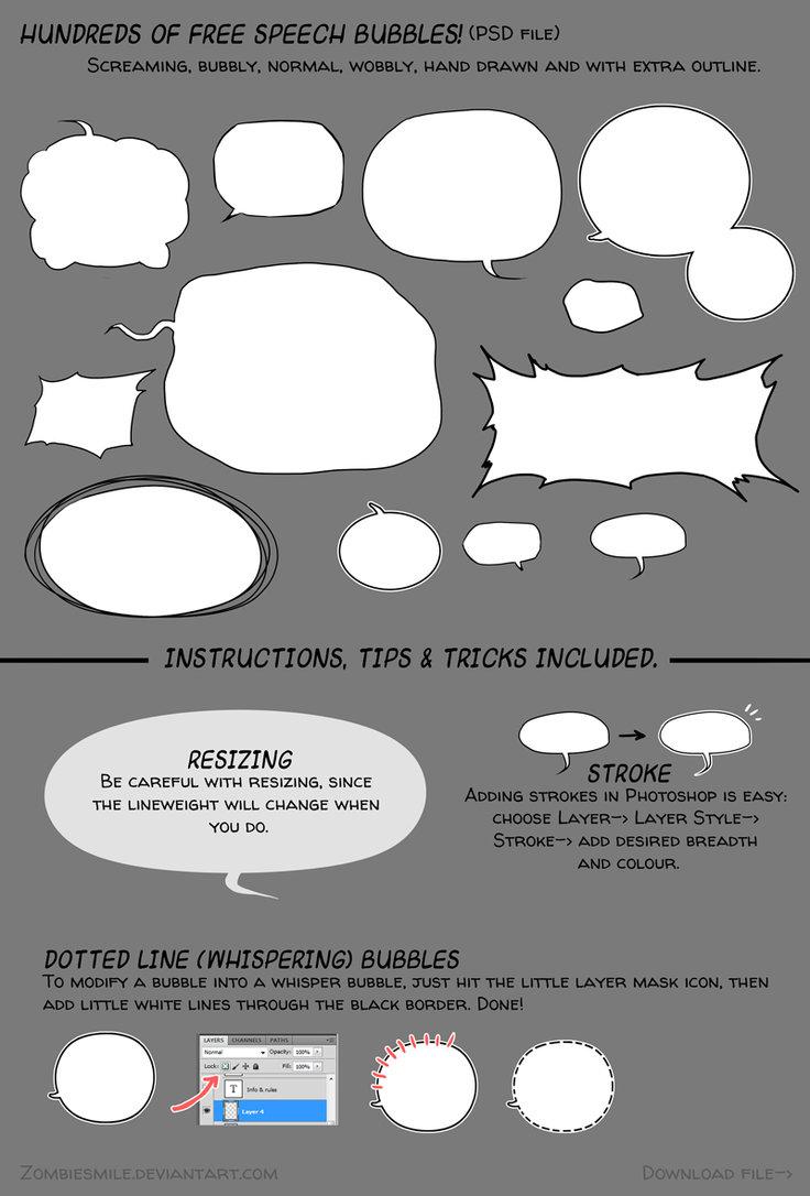 Drawn bubble chat box Zombiesmile Free by Bubbles (Download)