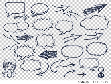 Drawn bubble conversation bubble Speech Stock arrows drawn bubbles