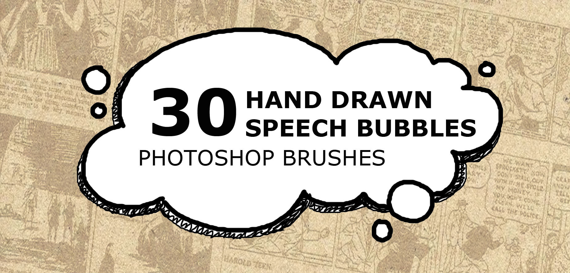 Drawn bubble creative Brushes Speech Drawn Speech UCreative