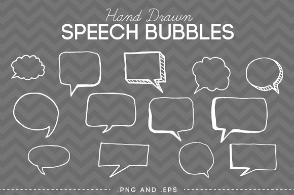 Drawn bubble creative Hand Bubbles Doodle Speech Market