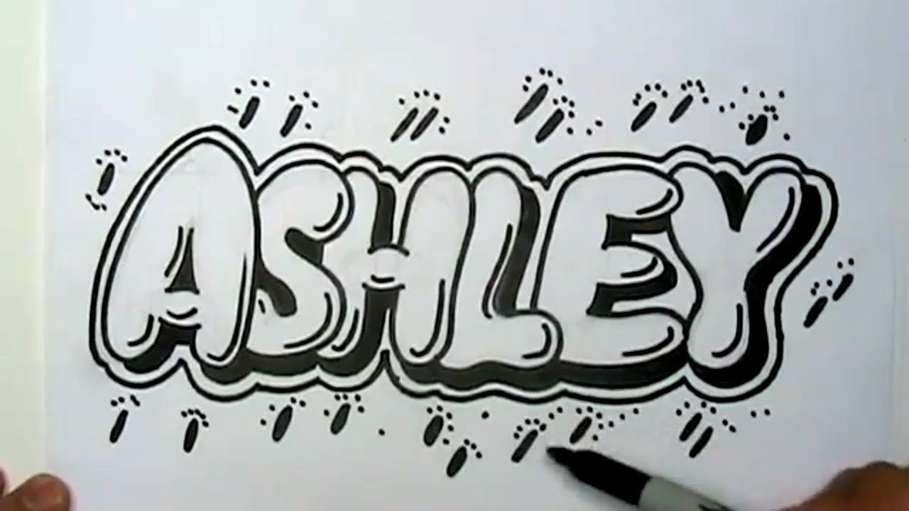 Drawn bubble creative Letters Bubble Draw Ashley Ashley