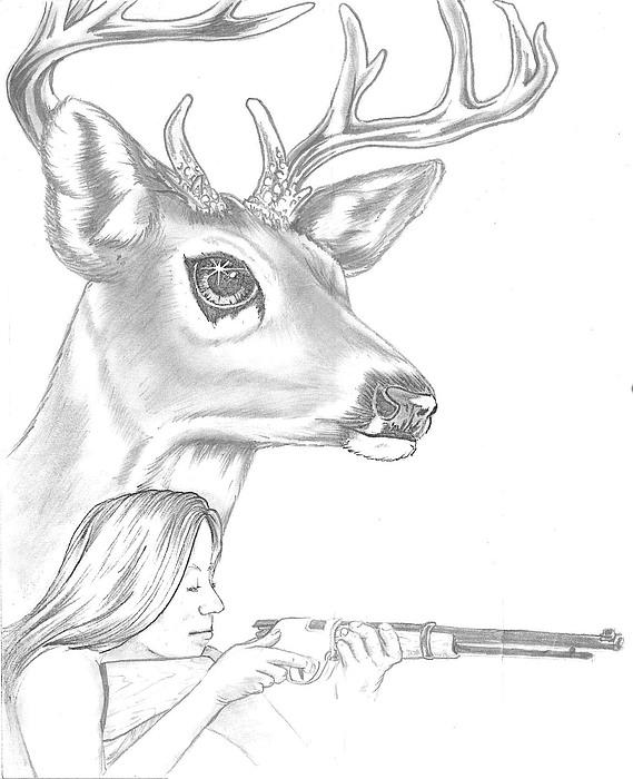 Drawn buck big buck Drawing by Big Heinricy Heinricy
