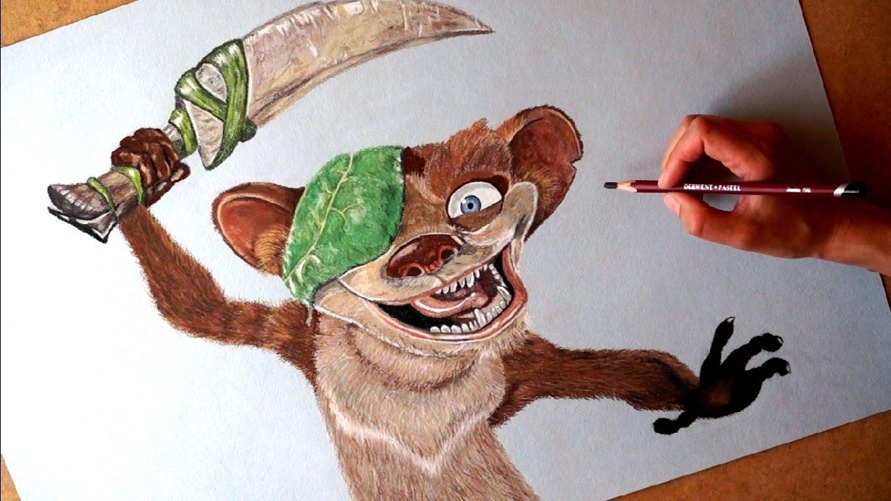 Drawn buck hand drawn Ice Cartoon from Cartoon Character