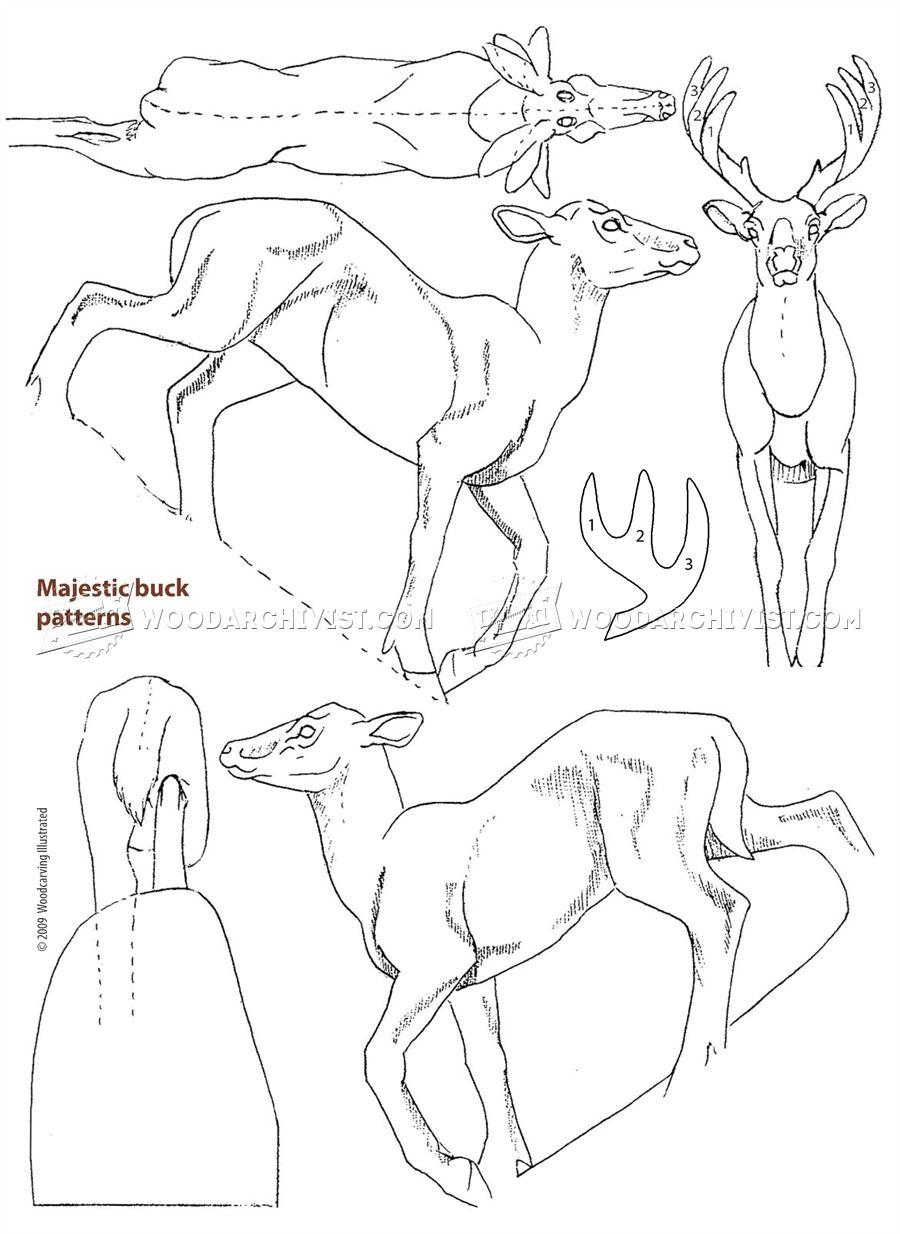 Drawn buck majestic Buck Carving Majestic WoodArchivist Majestic