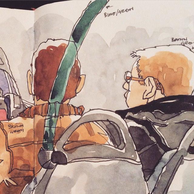 Drawn bud coach bus On Best buds on #urbansketching