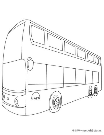 Drawn bud coach bus Coloring Double double Pages decker