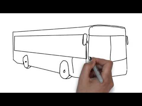 Drawn cartoon bus #5