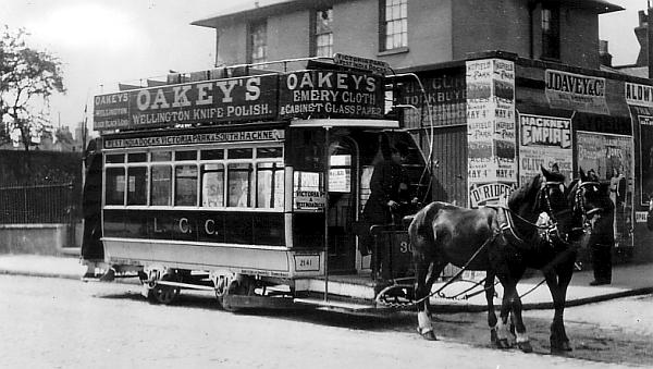Drawn trolley double horse Double LGOC History decker first