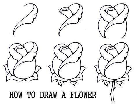 Drawn bud Step How Rosebud by Draw