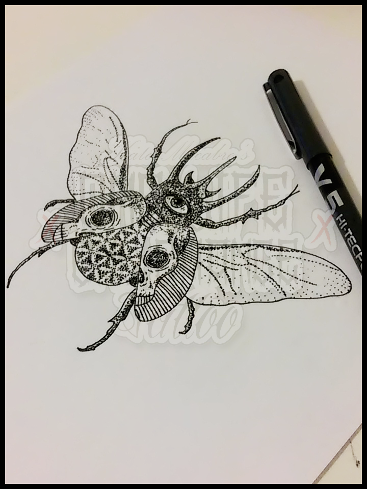 Drawn bugs dotwork KatoMacabre on Atlas by Beetle