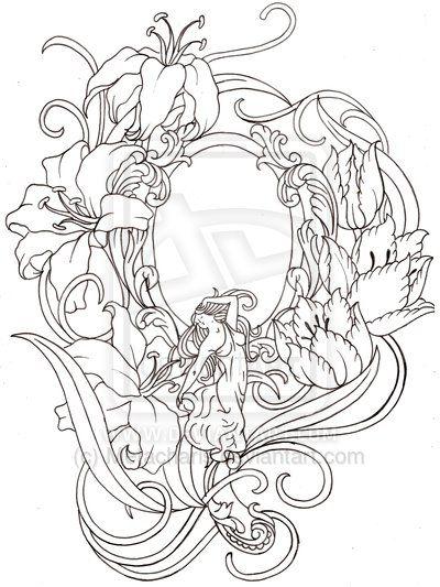 Drawn mirror Mirror on Hand Metacharis By