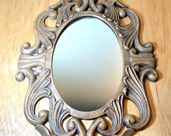 Drawn bugs ornate mirror Accent Frame mirror 21