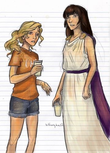Drawn bugs reyna And Percy Annabeth and Reyna