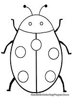 Drawn bugs template  beehive easy insect template