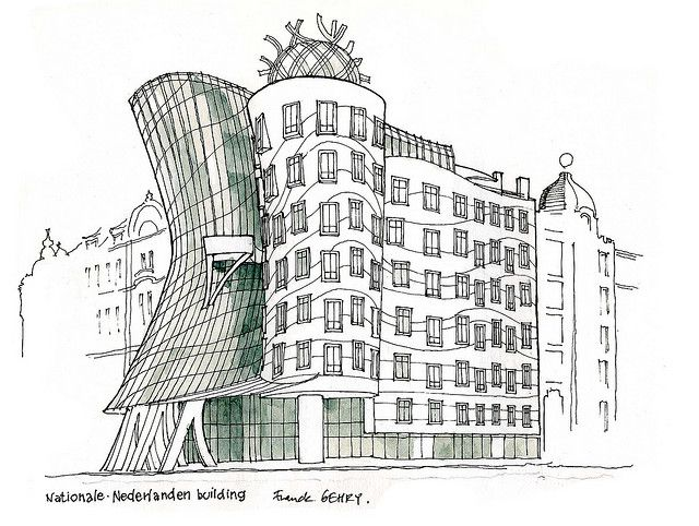 Drawn building Recent drawing on Frank Galleries