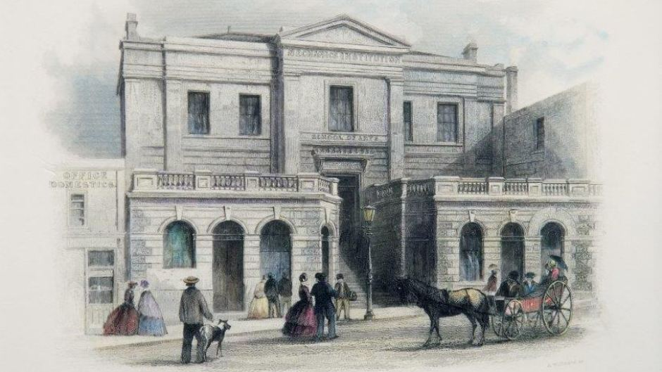 Drawn building australian Of 1855 News Melbourne drawing