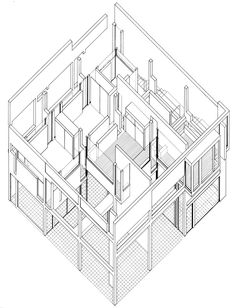 Drawn building axonometric  Peter Vermont of II