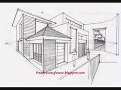 Drawn building contemporary House step by step complex