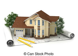 Drawn building isometric Photos house plan construction