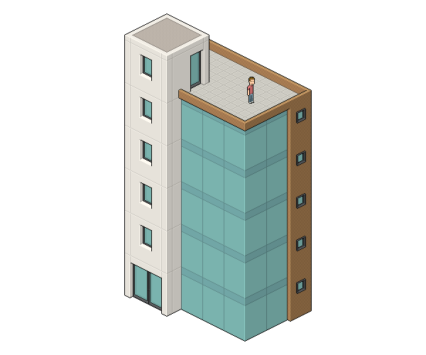 Drawn building isometric Adobe an complete is Art