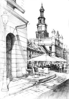 Drawn building pencil art Great realism Buildings Historical with