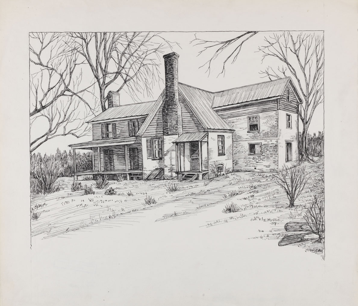 Drawn building pencil art Draw of House Drawings Pencil