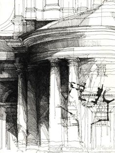 Drawn building pencil art Follow http://pinterest Architecture SKETCHES com