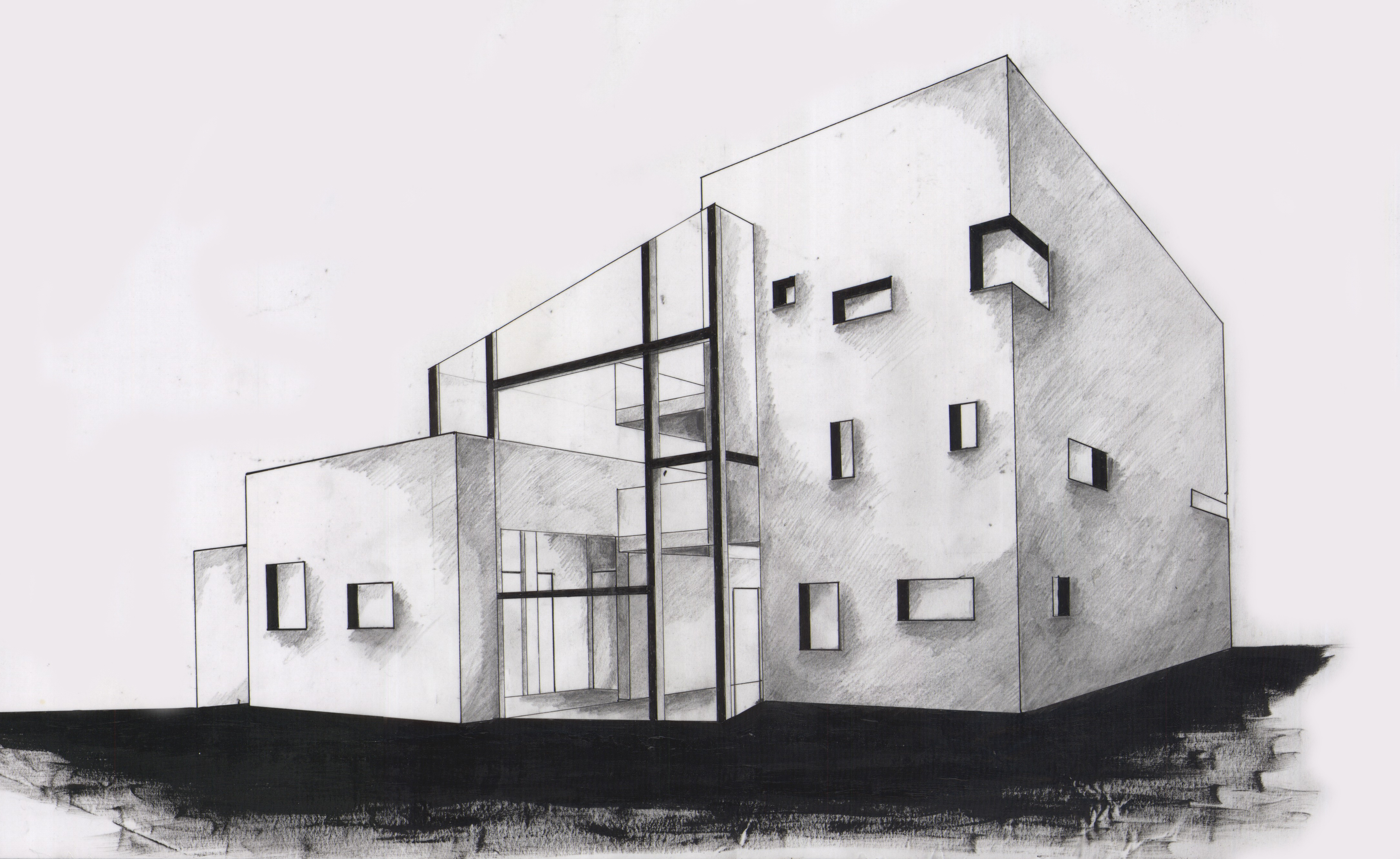 Drawn bulding  2 point perspective House Lessons Perspective The Perspective