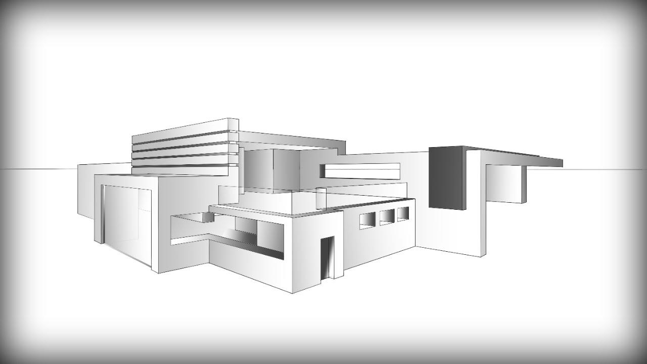 Drawn bulding  architecture design MODERN YouTube #7:  HOUSE
