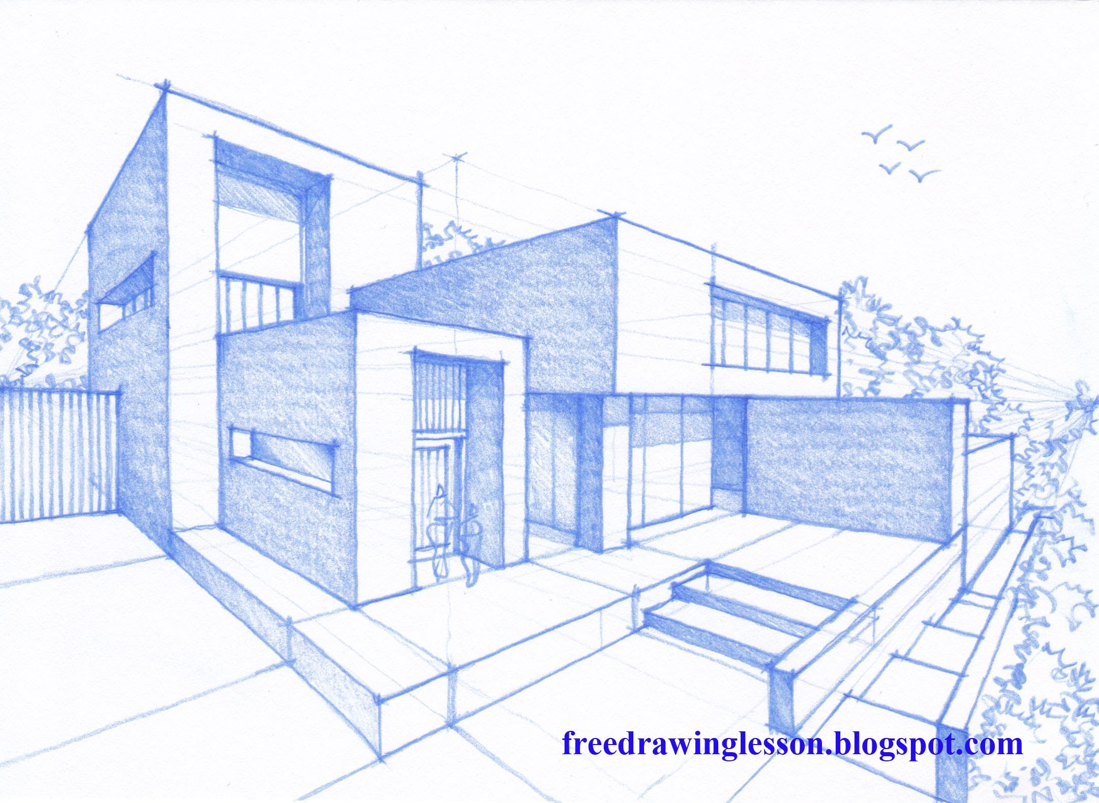 Drawn bulding  architecture design YouTube house  in draw