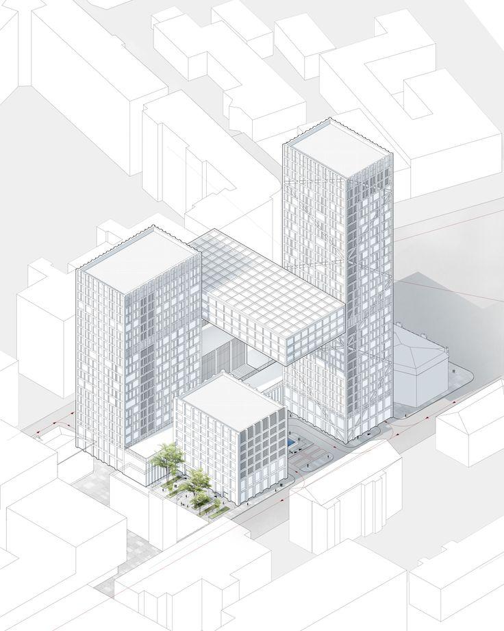 Drawn bulding  architecture design On DrawingsConcept 25+ ideas PaletteArchitecture